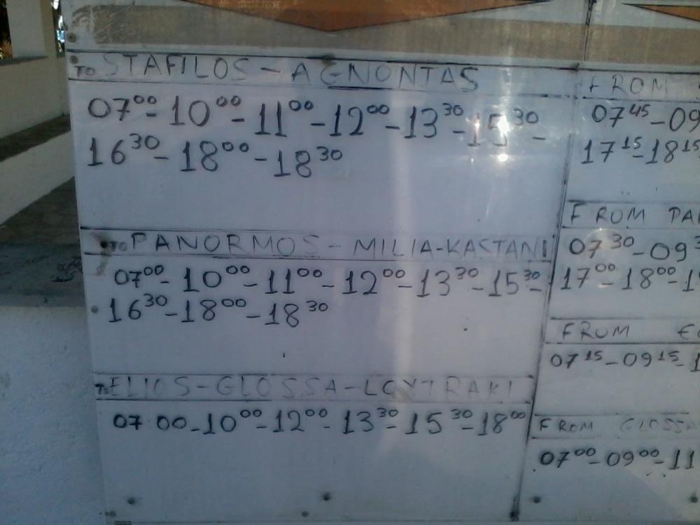 Bus timetable (2/4)