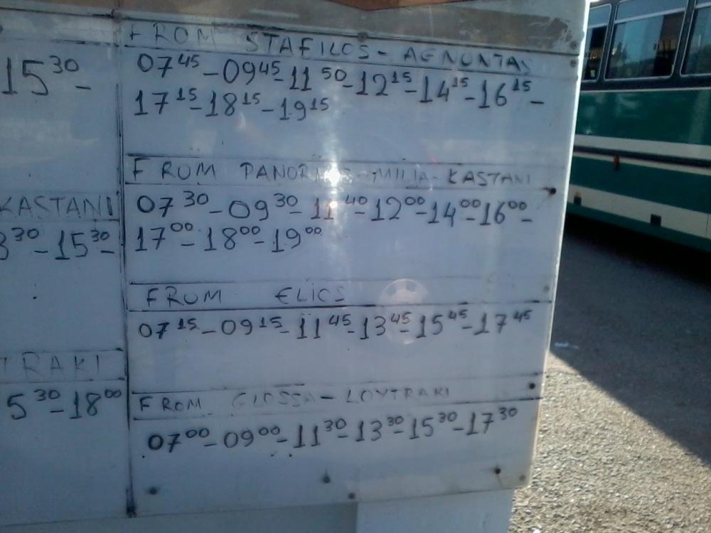 Bus timetable (3/4)
