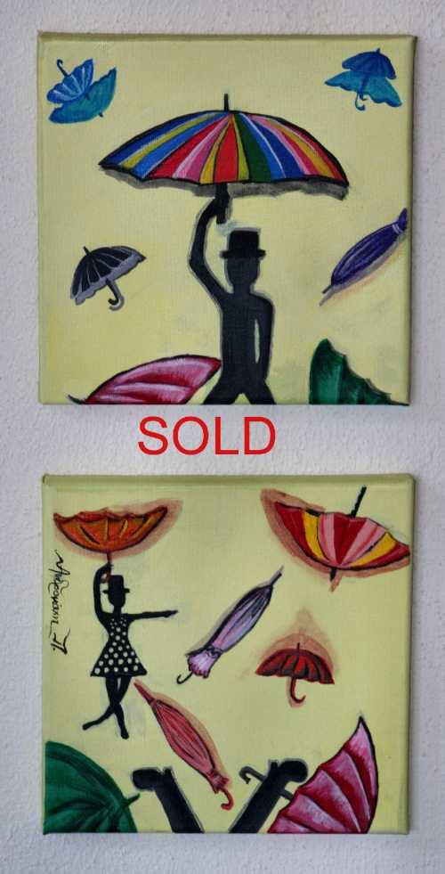 Umbrellas by Andromachi Panagiotara SOLD S