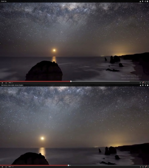 "Top: The Twelve Apostles, Australia. Below: ""Greece"". Both images © Alex Cherney.  Note the copyright watermark at right in the first is missing below."
