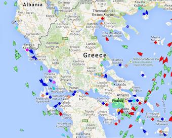 xmas ship map