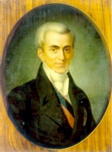 Ioannis Kapodistrias, first Κυβερνήτης, governor, of the new Greek state in 1827, assassinated in Nafplion in 1831