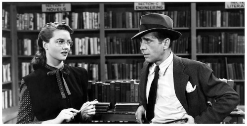 Him: You do sell books, hmmm? Her: What do those look like, grapefruit? Dorothy Malone and Humphrey Bogart in The Big Sleep