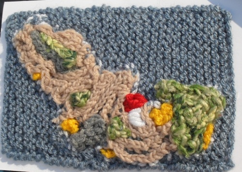 Knitted map