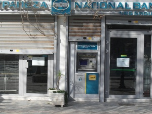 The strike-bound National Bank of Greece