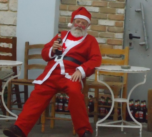 Bad Santa: Our thanks to Neil Durham for his, ah, assistance in this photo shoot