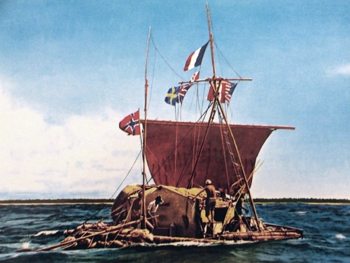 Our apologies to Thor Heyerdahl, and thanks to WikiCommons and uploader Rünno, for this shameful steal of a photo of the Kon-Tiki raft