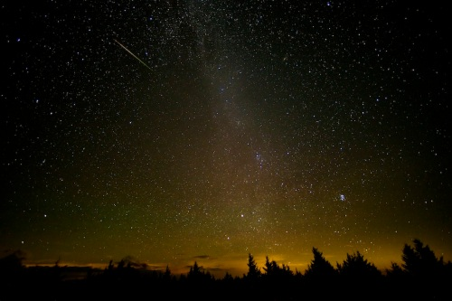 Thanks to NASA for this shot of a Perseid meteorite over West Virginia