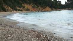 Stafylos beach, people are still swimming there.