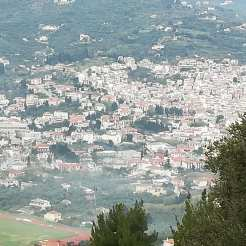 Hazy Skopelos, people are burning branches etc.